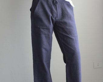 Men's 100 percent hemp pants...(1434) JKUOab