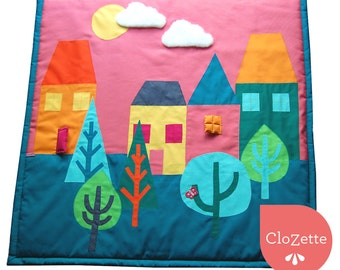 Comfy Baby play mat, houses