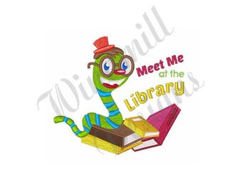 Bookworm Library - Machine Embroidery Design
