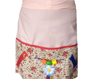 womens floral Garden Themed Activities Apron for Seniors