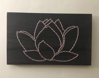 Lotus Flower wall art string art