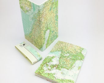 Scandinavia, Denmark Norway Travel Journals, Travel notebook, Baltic States Map journal, Travelers notebook, Travel map