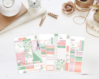 25% OFF SALE (no coupon needed) - Never Stop - Mini Kit - Vertical Planner Stickers (Weekly Sticker Kit) - Matte, Kiss Cut