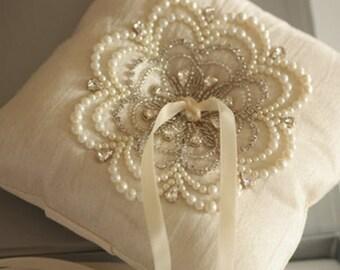 Wedding Ring Pillow - NU Ivory