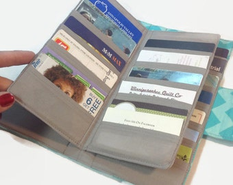 Credit Card Holder, Women's Card Wallet, Bifold Card Holder, 38 Credit Card Holder, Loyalty Card Organizer, Card Wallet, Women's Wallet
