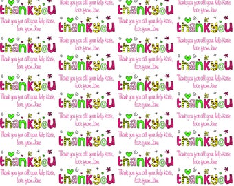Personalised Thank You Gift Wrapping Paper