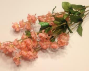 silk baby's breath flower stem, peach (DD)