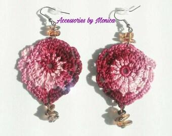 Burgundy royalty earrings