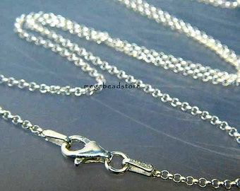 20 in. Italy 925 Sterling Silver Rolo Chain 1.5mm Necklace FC16- 1 pc