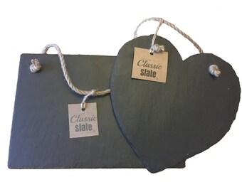 Handmade Natural Slate Chalkboards Chalk Notice Memo Boards Various Sizes