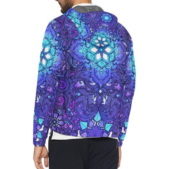Burning clothing Sacred Clothes Festival Clothing Men Clothing Music Ravewear Windbreaker Rave Jacket Man Futuristic Geometry Clothes Hippie W7CnEP
