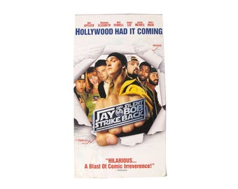 Jay & Silent Bob Strike Back VHS Kevin Smith Comedy Vintage Movie Video Hollywood California