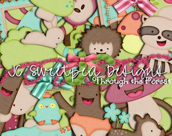 Through the Forest Digital Scrapbooking Kit