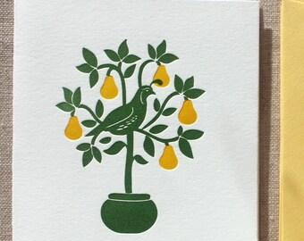 Partridge Letterpress Card Set