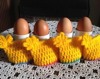 Crochet Egg Cosies. Egg Warmers.Easter Gifts.Eggs Decor.Set of 4