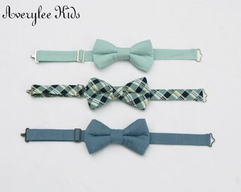 Boys Formal Wear Bow Tie, Toddler Bow Tie, Dust Blue Bow Tie, Ring Bearer Outfit, Page Boy Outfit, Beach Wedding Outfit, Family Photo Outfit