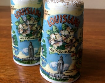 Souvenir Salt and Pepper Shakers, Louisiana, State Attractions, Cute and Kitschy