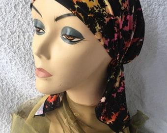 Lycra Pre Tied Head Scarf Hijab Bonnet Hair Covering