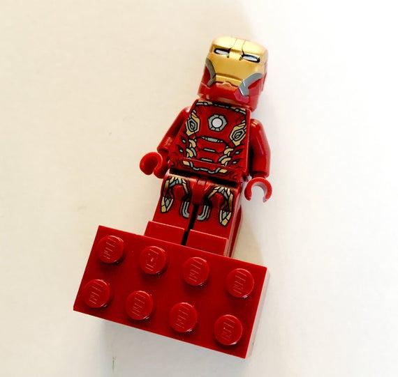 Iron Man Fridge Magnet Iron Man LEGO Magnet Iron Man Brick