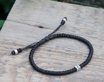 Initial bracelet / Mens bracelet / Custom bracelet / personalised letter /  customised / Personalized jewelry / Beaded bracelet  best friend
