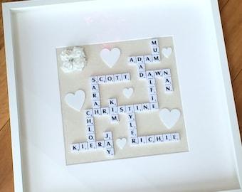 Large Family Scrabble Frame