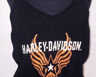 Womens Vintage Harley Davidson Knit Tank
