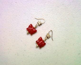 Red Butterfly Earrings (1035)