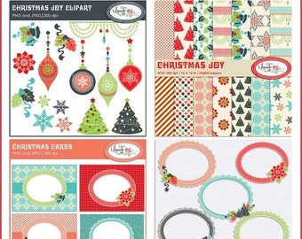 50%OFF Christmas digital papers, Christmas clip arts, Christmas photo cards and Christmas digital frames. Commercial use clipart, P151