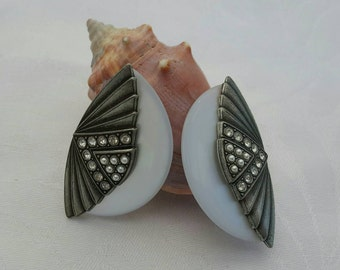 "Art Deco ""Style"" Fan Earrings"