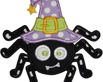 Personalized Halloween Spider Applique Shirt or Bodysuit for Boy or Girl