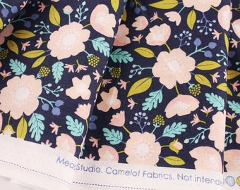 Meadow Wild flowers print Fabric Camelot by the Half Yard