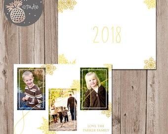 Joy Christmas Card, Snowflake Holiday Card, Printable Christmas Card