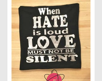 Charlottesville tshirt,black lives matter tshirt, there is only one side, Wear Out The Silence,protest tee, silence is death,resist, antifas