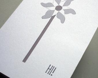 The Original Pinwheel Notecard -- Set of Four Cards and Envelopes