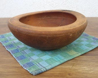 Vintage wooden bowl Carved bowl Primitiv wooden bowl from 1930 Kitchen decoration Home decoration Antique