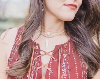 Triple Layer Necklace, Coin Choker, Boho Layered Choker, Boho Gold Choker, Layered Necklace Set, Dainty Choker, Thin Chain Choker, Layered S