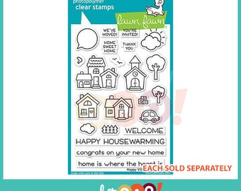 Lawn Fawn Clear Stamp Set - Happy Village