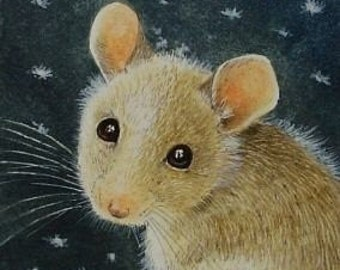 Cute Mouse Art  Melody Lea Lamb ACEO Print