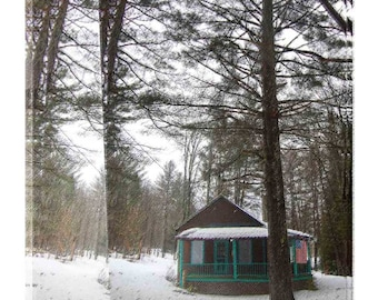 Cabin in the Forest in the Adirrondacks, New York