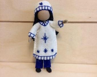 Indi - Miniature doll - Bendy doll - Faceless doll - Dollhouse doll - Pocket doll - Waldorf doll - Montessori toy