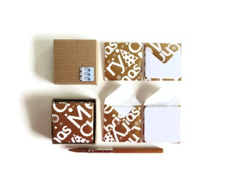 Mini Stationery Set - Merry Christmas in Gold Envelopes and White Blank Cards