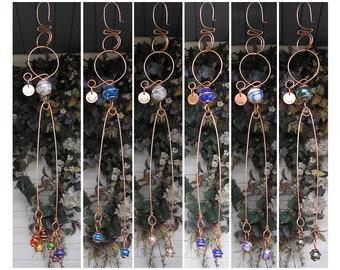 Personalized Suncatcher - Garden Decor - Glass Garden Art - Copper Garden Art - Inspirational Art - Outdoor Decor Fathers Day - Gift for Dad
