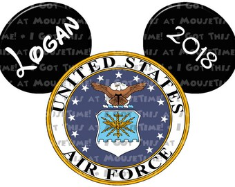 US Air Force Logo Ears! - Iron-On OR Magnet