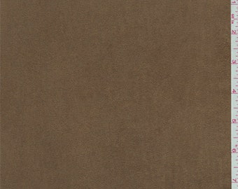 Golden Tobacco Knit Microsuede, Fabric By The Yard