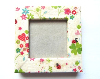"Magnet picture frame wood Liberty - ""Spring freshness"" - slip - on order - gift idea mothers day"