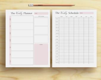 plan weekly
