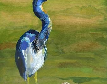 Blue Heron - PRINT of original