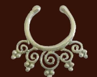 septum ring, silver septum ring, handmade ring, nose ring