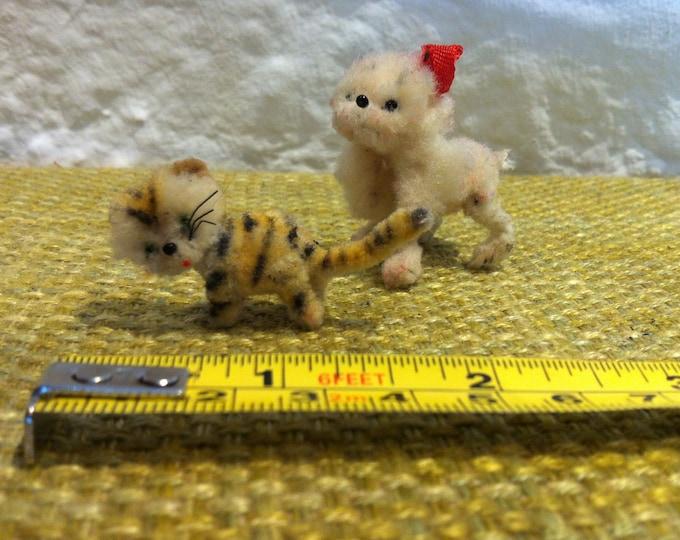 Vintage Cat and Dog dollhouse miniatur accessoires