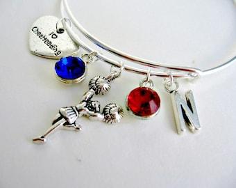 Personalized Cheer Bracelet, Personalized Jewelry, Spirit Jewelry, Coach Gift, Spirit Team, Cheerleader Jewelry, Teen Girl Gift Cheerleader